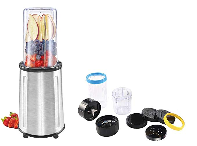 Ovente HS715 17 Piece All-Purpose Flash Blender Set, Stainless Steel