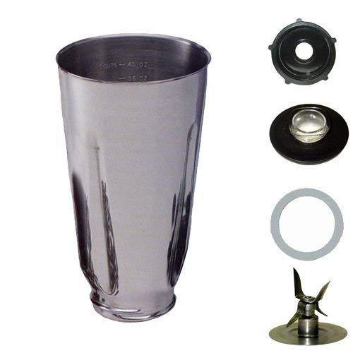 Oster Style Stainless Steel 5 Piece Blender Jar Set