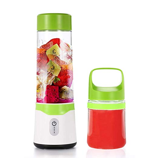 Portable Juicer Cup,UIQELYS USB Juice Blender,Household Fruit Mixer- Six Blades in 3D, 550ml Baby Food Mixing Machine with Powerful Motor for Superb Mixing- with an Extra Free Gifts