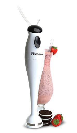 Maxi-Matic EHB-1000X Americana Multi-Purpose Electric Immersion Hand Blender Stick, Mixer, Chopper,150 Watts One-Touch Control for Soups, Sauces, Baby Food,Compact Storage and Easy to Clean,White