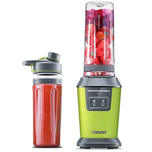 Smoothie Blender, Willsence Intelligent Nutrition Personal Blender 700W Peak Power, Ice Crush Smoothie Maker with Two 20 oz Tritan Sports Bottles and Recipes, Staniless Steel (Smoothie)