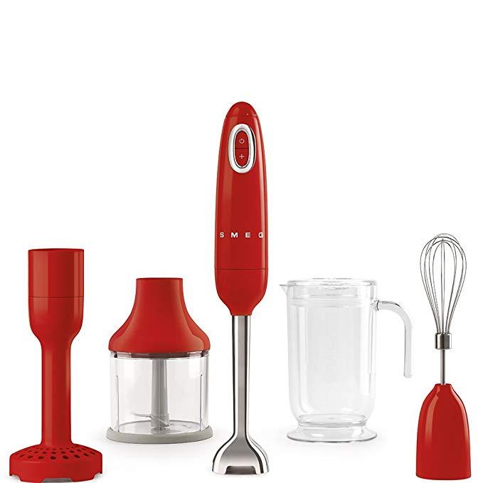 SMEG 50's Style Hand Blender, Red