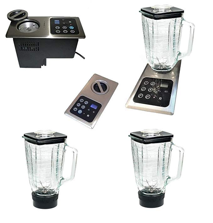 1000W Built-in Motor (under countertop) w-flush mount STAINLESS STEEL control panel; INCLUDES 2 Built-in Glass Blenders (also replaces Nutone Food Center 251) Smoothie & Slushy Maker