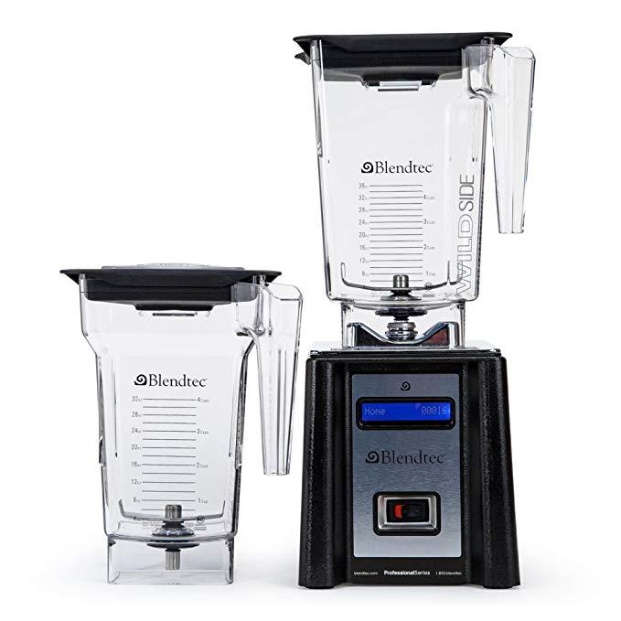 Blendtec 2000123 Professional Series Wildside/Fourside Blender, Black