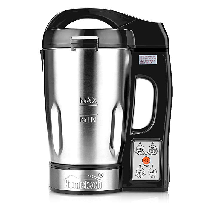 Hometech 800W Electric Jug Stainless Steel Soup Maker Machine Blender with 56 Oz Capacity