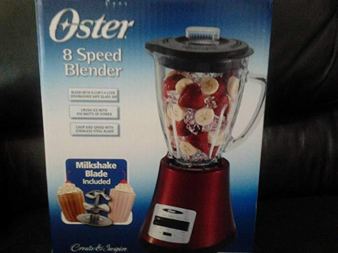 Oster 8 Speed Blender - Red